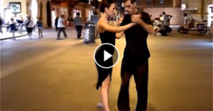 Argentinian Street Tango Dance accompanied by the music of Armik