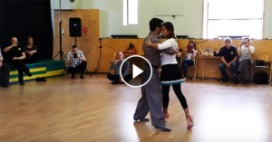 Figures in tight space, tango lesson by Sebastián Achaval and Roxana Suarez