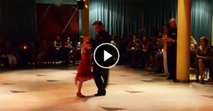 Milonga at Benidorm with 7 year old Sofía and her partner