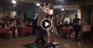 Ricardo Vuiqueira & Fish dance tango on a table