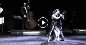 """Esmer Omerova and Dmitry Vasin with """"Solo Tango"""" orchestra"""