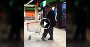 Dance tango everytime, everywhere even with a shopping cart