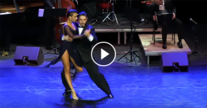 Anna Gudyno & Kirill Parshakov with Solo Tango Orquesta